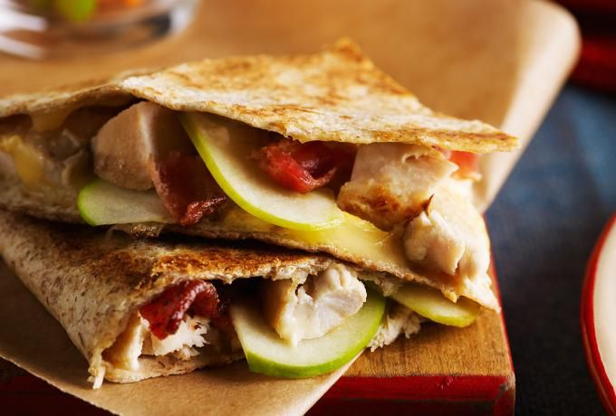 Recipes - Grilled Cheese, Bacon & Chicken Quesadilla » Chicken.ca