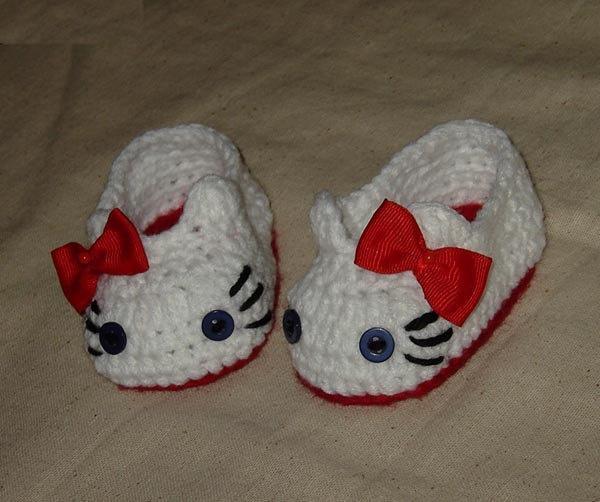 Crochet Baby Booties Hello Kitty Pattern Pakbit For