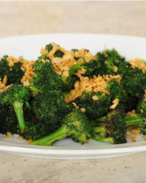 Grilled Broccoli Over Blue Cheese Dressing | Recipe