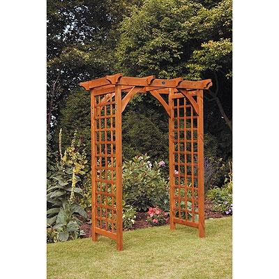 Wooden garden arch teak yard ideas pinterest for Wooden garden arch designs