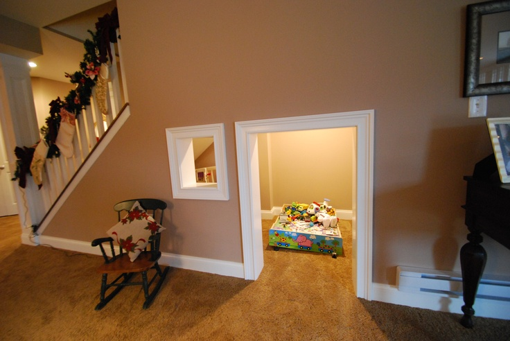 Playroom under stairs basement ideas pinterest