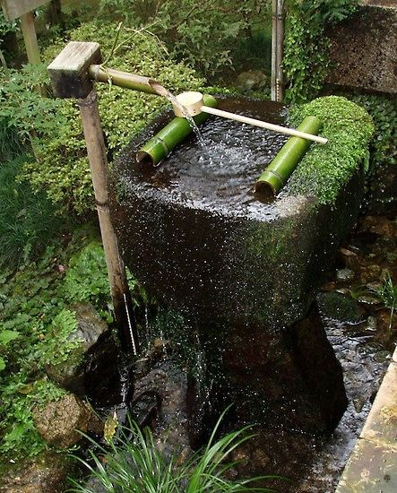 Japanese garden decoration water in the garden pinterest for Japanese water feature