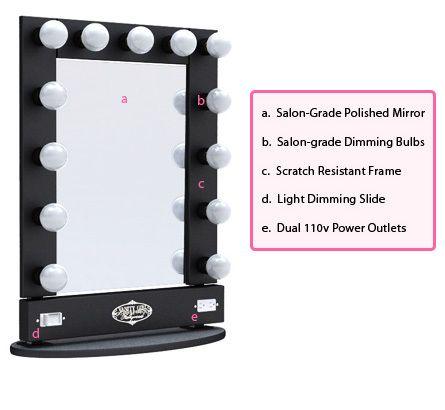 broadway lighted vanity mirror table top home pinterest. Black Bedroom Furniture Sets. Home Design Ideas