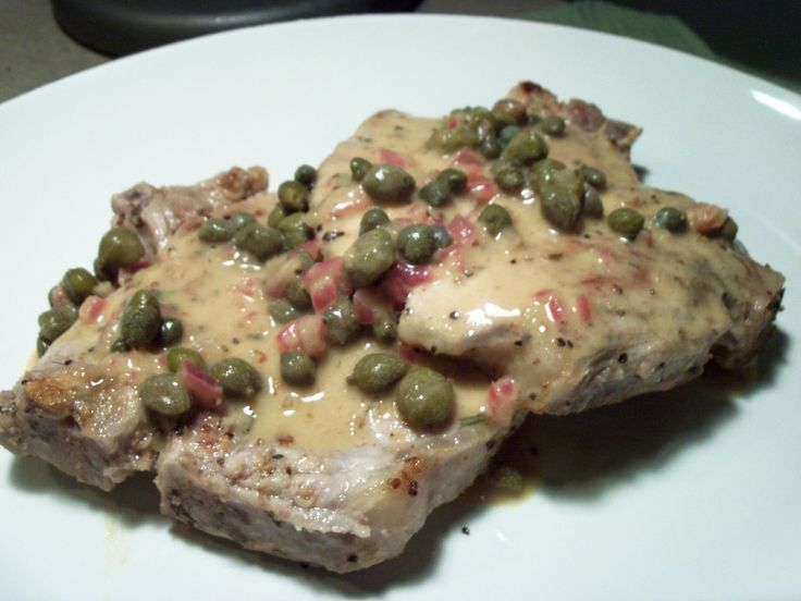 Grilled Veal Chops With Caper And Sage Sauce Recipe — Dishmaps