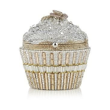 Judith Leiber – Judith Leiber Champagne Sequin Cupcake Clutch Bag at Harrods