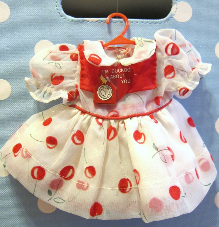 Adorable vintage cherry doll dress