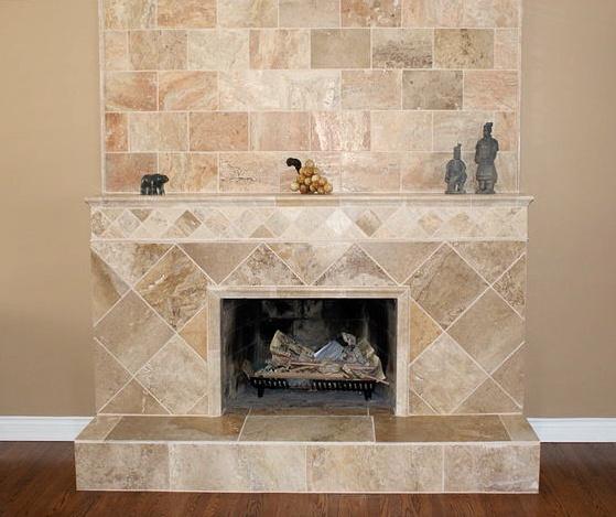 Travertine Fireplace House Pinterest