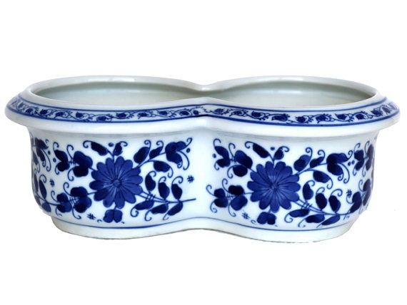Amazoncom: blue and white planter