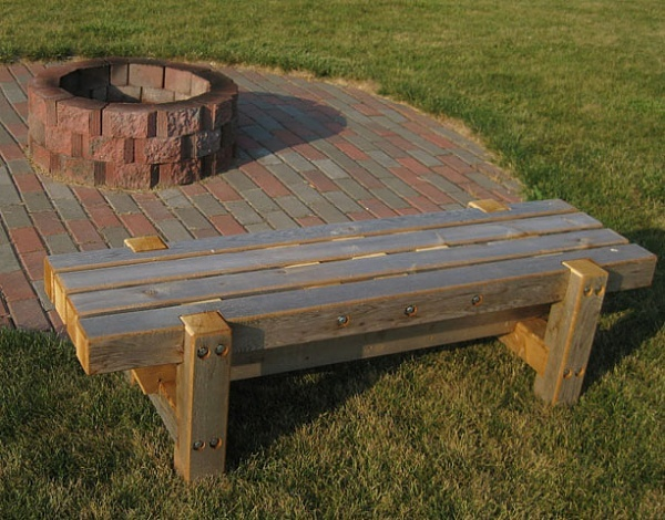 Fire pit bench dream home outside pinterest Fire pit benches