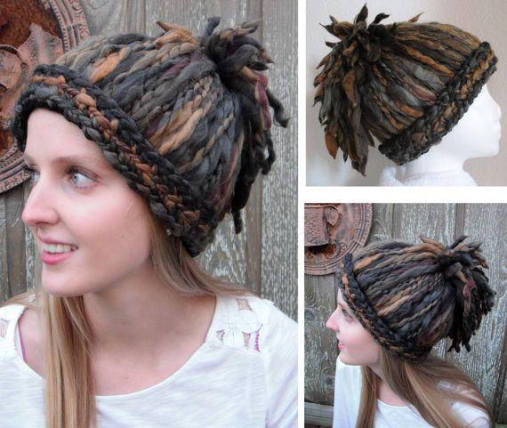 Hand Knit Dreadlocks Ponytail Crochet Hat - Fun, Funky, Cool