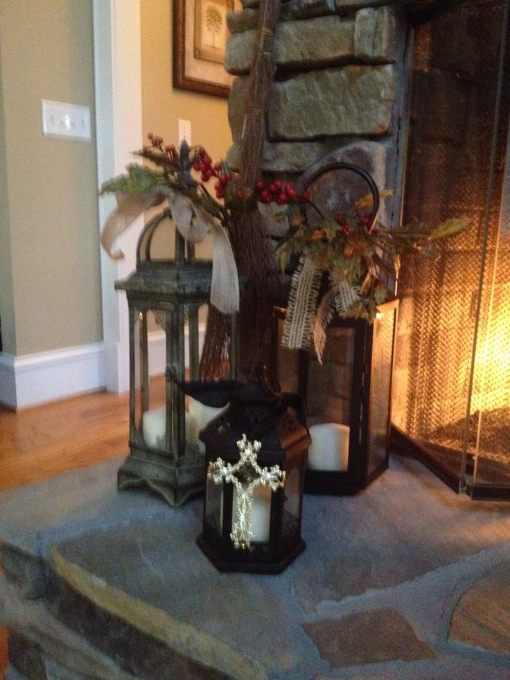 decorating with lanterns christmas pinterest