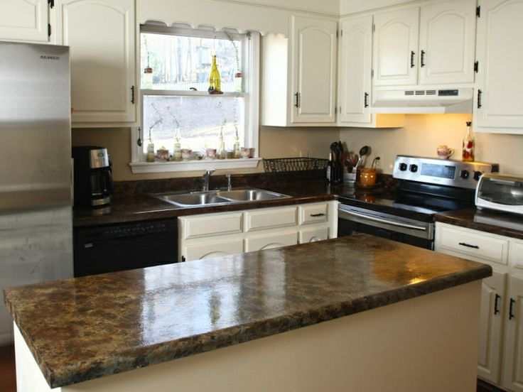 Countertop Paint Over Laminate : Painting laminate countertops Neat ideas Pinterest