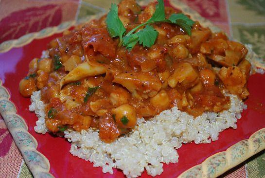 Cauliflower & Chickpea Curry | vegetarian dinners | Pinterest