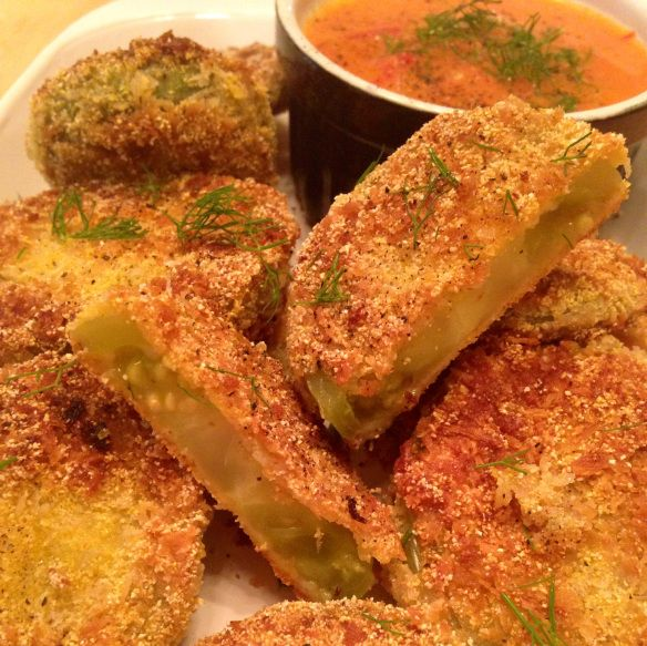 Fried green tomatoes. Fried in coconut oil! They are amazing and won't ...