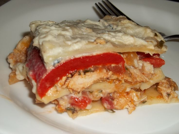 McKinney Living: Chicken, Roasted Red Pepper, and Goat Cheese Lasagna