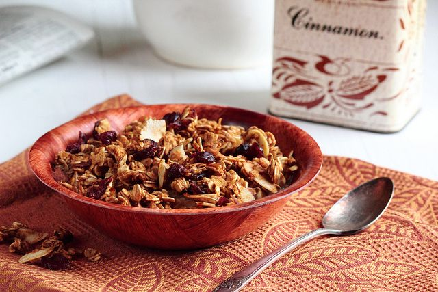 Pumpkin Granola by pastryaffair, via Flickr Leave out the brown sugar ...