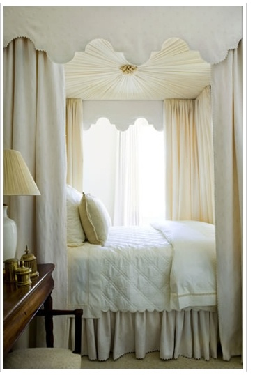 canopy bed curtains i like the shaped top bit the dimension added