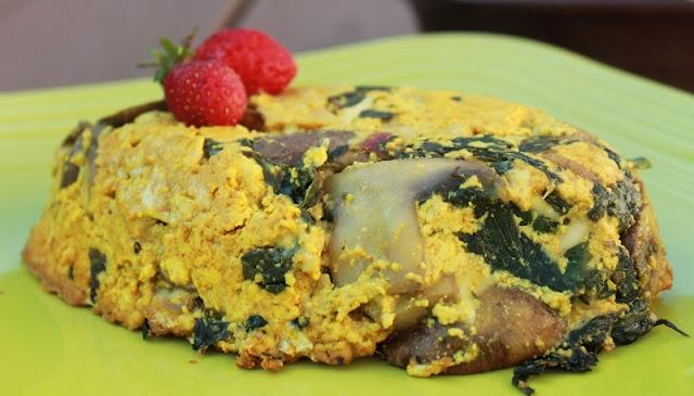 Vegan Mushroom & Swiss Chard Frittata | Vegan | Pinterest