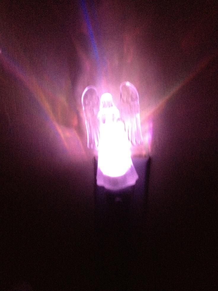 angel nightlight  purple night lights pinterest