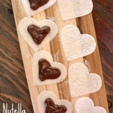 Nutella heart ravioli... I'd try it with something else, but it wounds ...