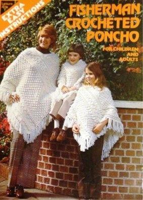 Fisherman Crochet Poncho Crochet Pattern American School of Needlework