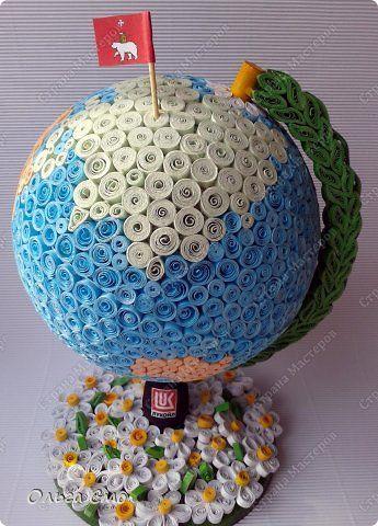 Поделка глобус из макарон 65