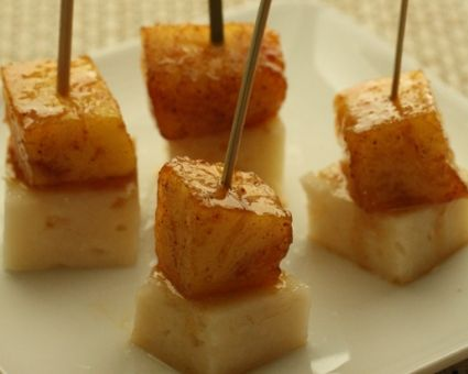 Pineapple Manchego Skewers Recipe | Recipes I want to try | Pinterest