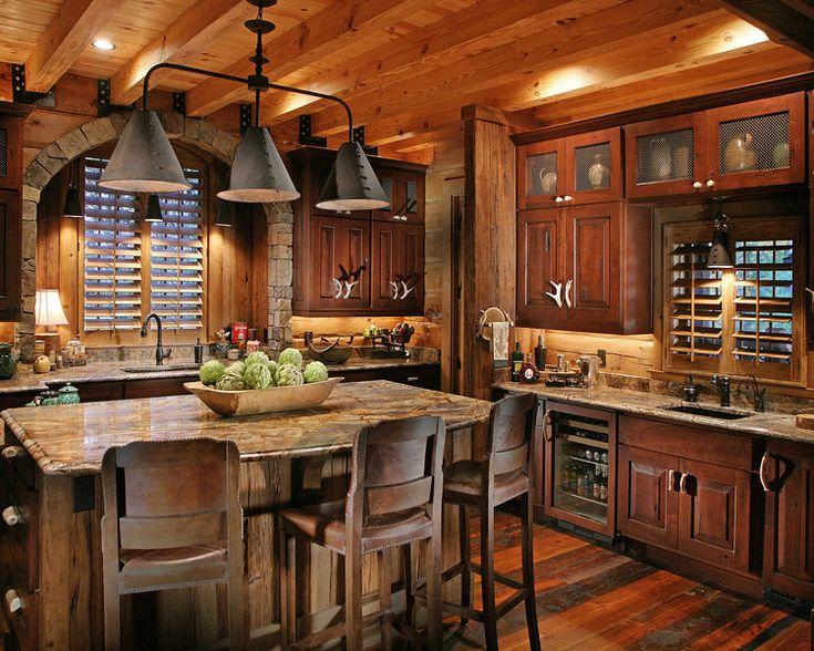 Rustic Kitchen Log Home Home Decor Pinterest