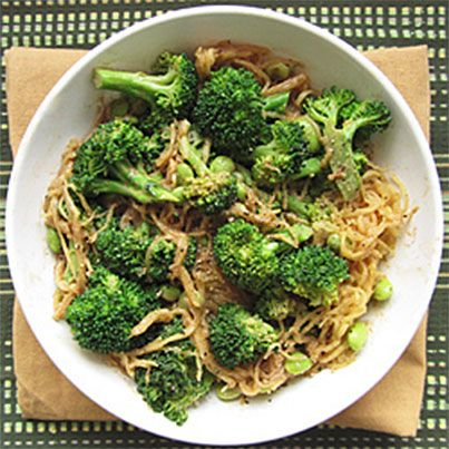 Sesame Soy Spaghetti Squash with Broccoli and Edamame | GLUTEN AND ...