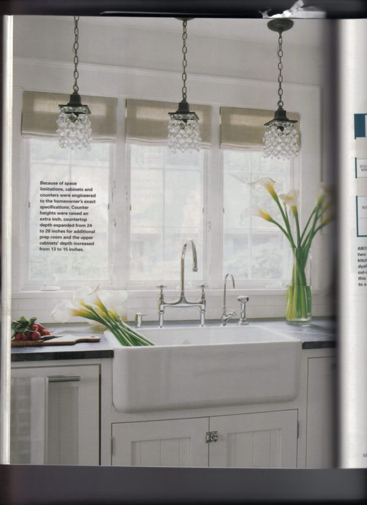 Kitchen Lighting Farm Sink Kitchens Pinterest
