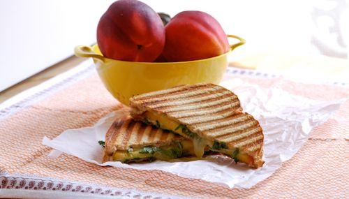 Kale, Grilled Garlic And Cheddar Panini Recipe — Dishmaps