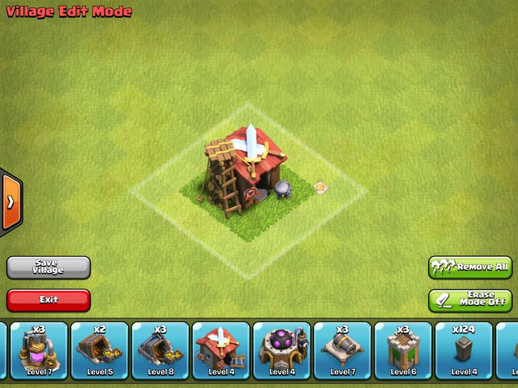 clash of clans level 7 war base without barbarian king