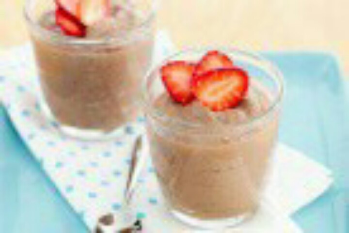 Chocolate And Berries Yogurt Dessert Recipe — Dishmaps