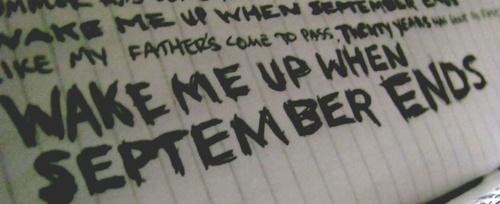 green day lyrics wake: