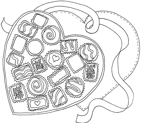 box of chocolate coloring pages - photo#6
