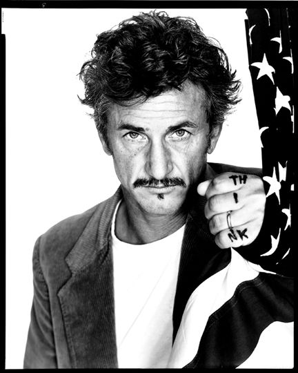 Sean Penn, actor, writer-director.   photo by Richard Avedon