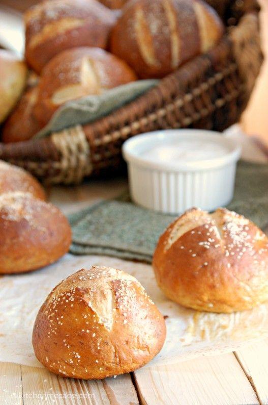 Soft homemade Pretzel Rolls | Bread Basket | Pinterest