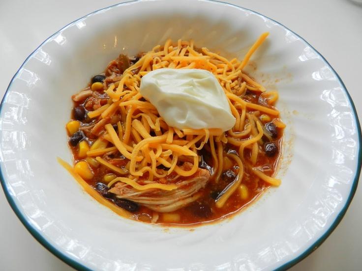 Crock Pot Chicken Taco Chili | Recipes | Pinterest