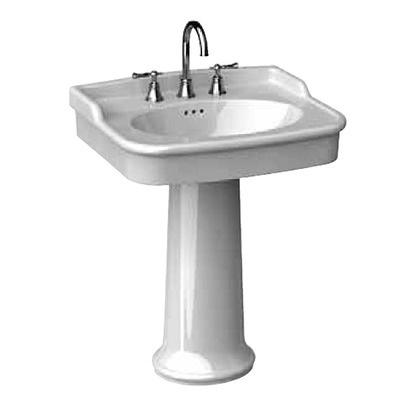 Porcher Pedestal Sink : Porcher New Savina 27