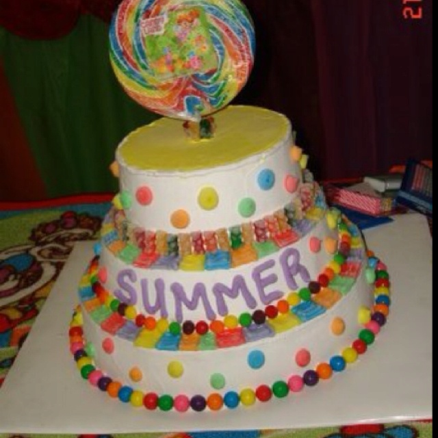 Ice cream cake | CandyLand Birthday Party! | Pinterest