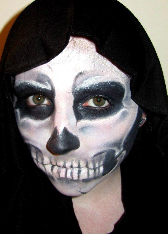 Раскраски на хэллоуин на лице - 8