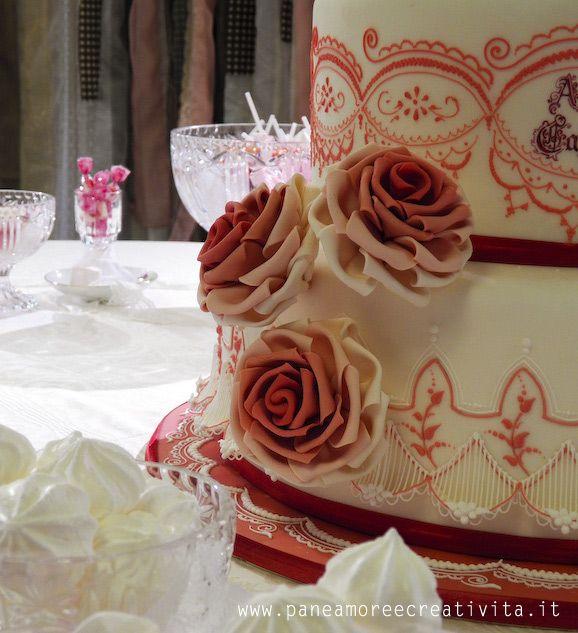 torta-nuziale-in-rosso  Wedding  Pinterest