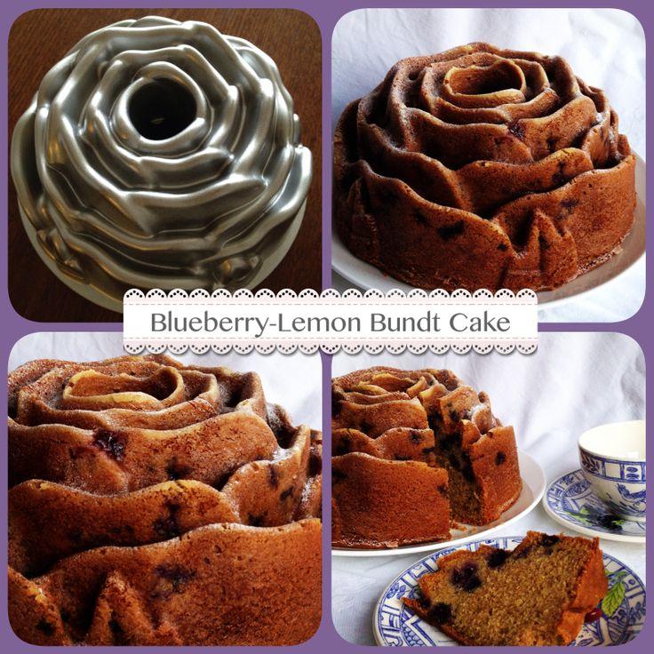 Blueberry-Lemon Bundt Cake based on recipe by Martha Stewart, see ...