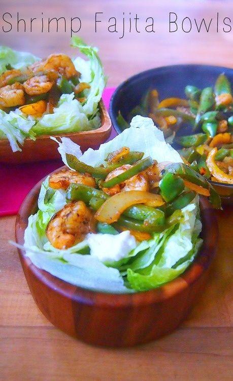 Shrimp Fajita Bowls. | to eat | Pinterest