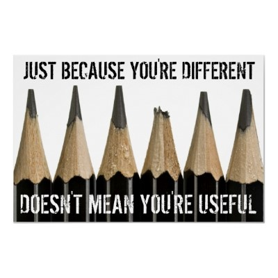 Haha this made me laugh. Different isn't always useful.