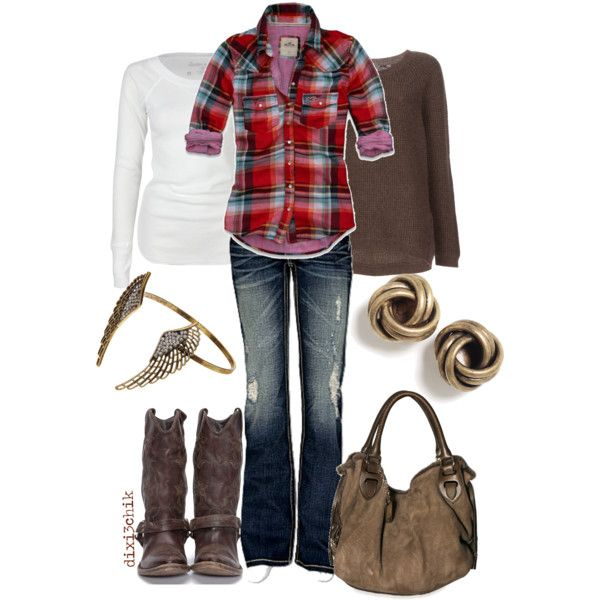 Cute fall outfit #fall outfit #women #fashion #ootd  #boots #plaid
