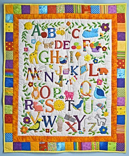 Alphabet Baby Quilt Quilts & Things Pinterest