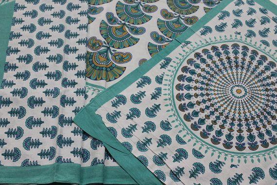 Cotton bedding sheet bedspread wall hanging tapestry ethnic vintage i