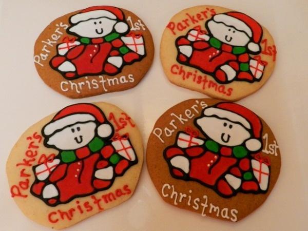 So cute baby s 1st christmas cookies christmas ideas pinterest