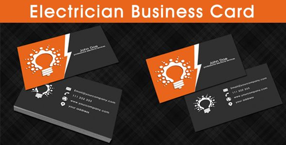 Electrician business card template business cards for Electrician business cards templates free